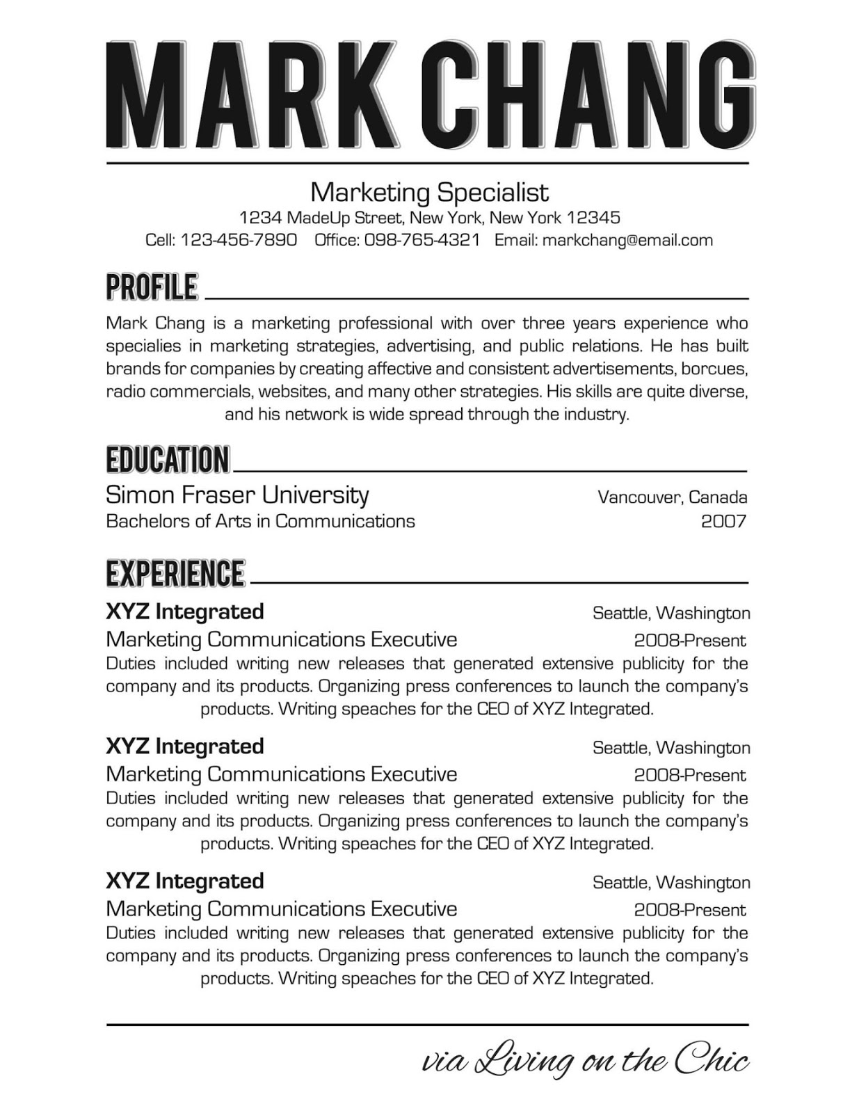 how is a resume supposed to look like exons tk category curriculum vitae
