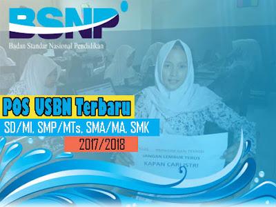 POS USBN Terbaru SD/MI, SMP/MTs, SMA/MA, SMK Tahun 2017-2018