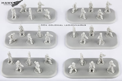 30x Colonial Legionnaires (on 6 bases)