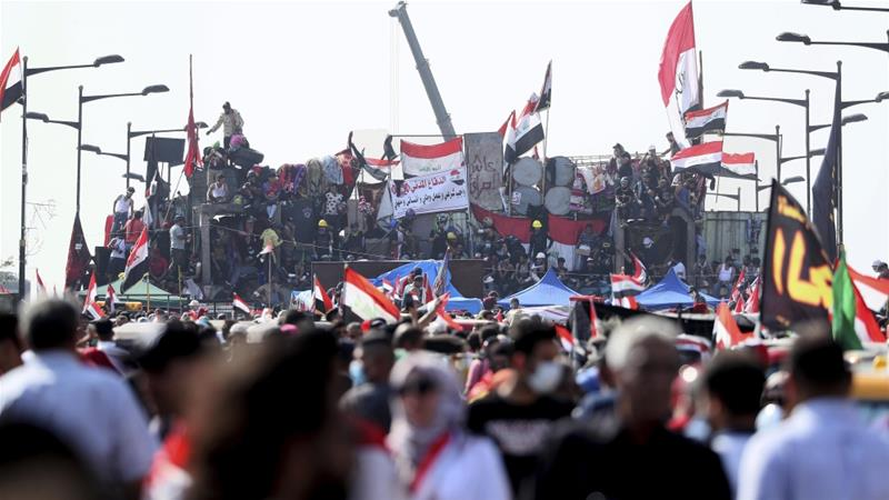 Iraq forces fire live rounds at protesters in Baghdad