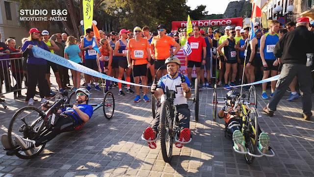 Σπουδαίοι πρωταθλητές και ο Παραολυμπιονίκης Μιχάλης Σεΐτης στο Μαραθώνιο Ναυπλίου