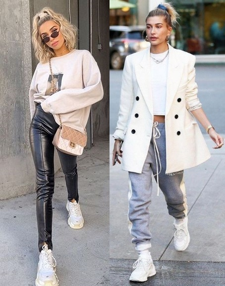 Looks inspiração com moletom, Delaney Childs, Hailey Baldwin Bieber
