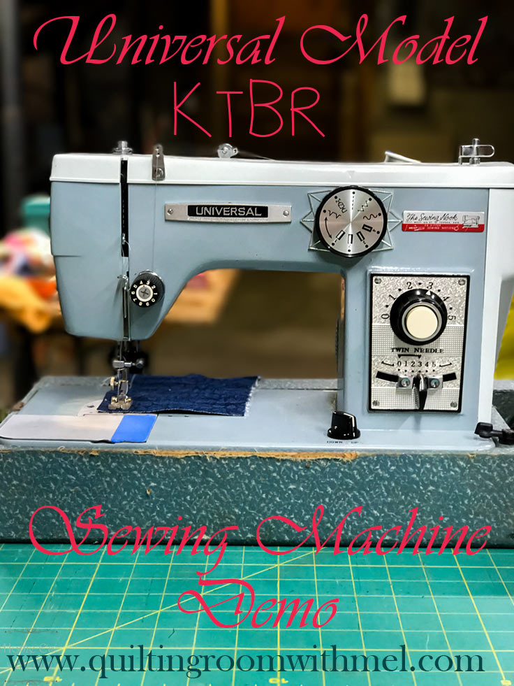 universal model KTBR sewing machine demo