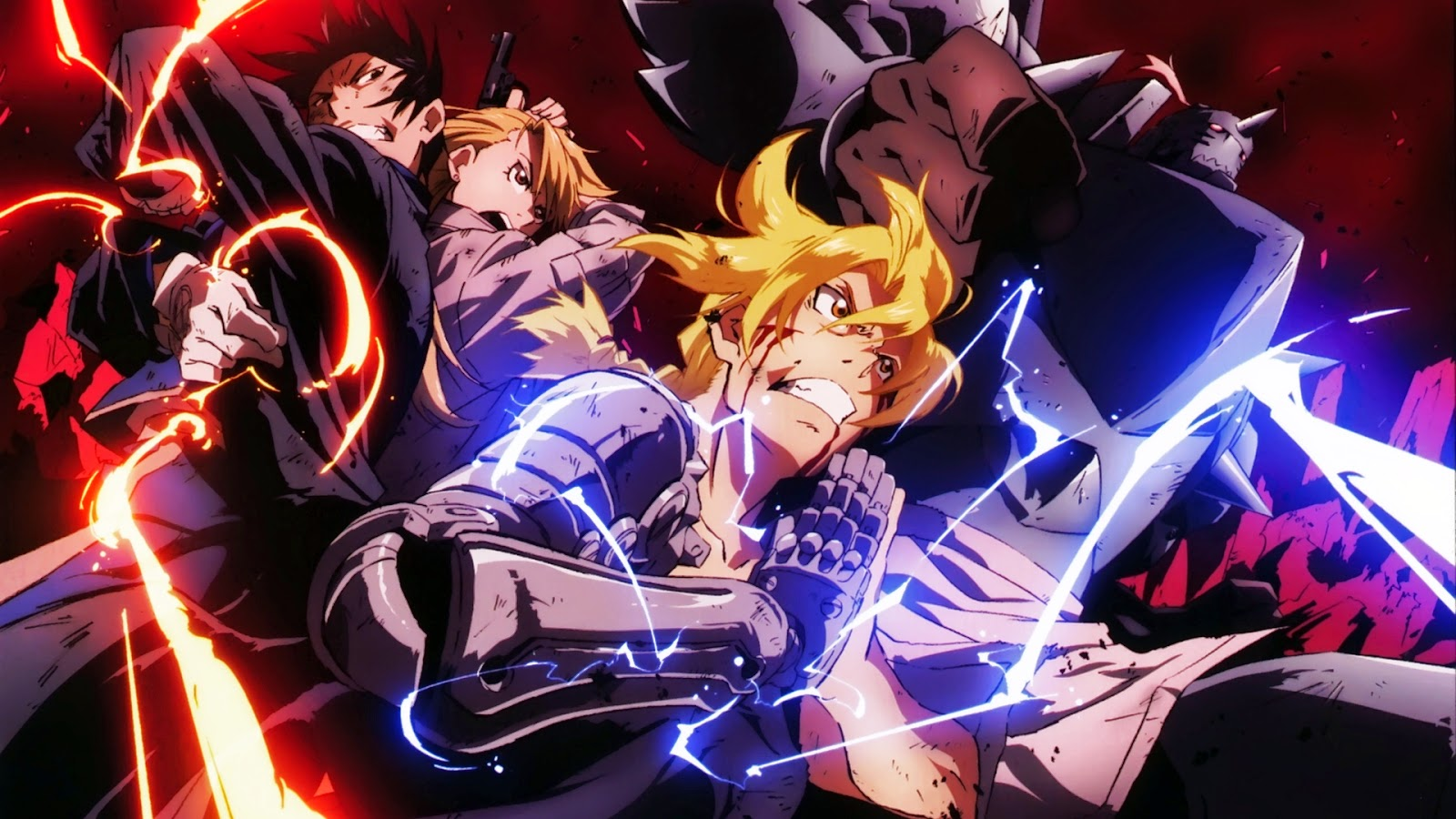 Full Metal Alchemist Brotherhood wallpaper Edward, Alphonse, Riza y Roy