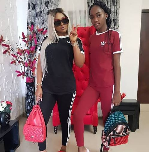 Michelle Gentry wishes her mother, Mercy Aigbe a happy birthday as she turns 42