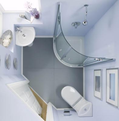 افكار وتصاميم ديكورات حمامات صغيرة المساحة 2019