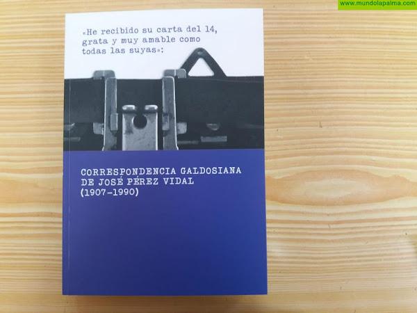 María Remedios González reúne en un libro la correspondencia galdosiana de José Pérez Vidal