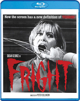Scream Factory's Blu-ray cover for Peter Collinson's FRIGHT (1971).