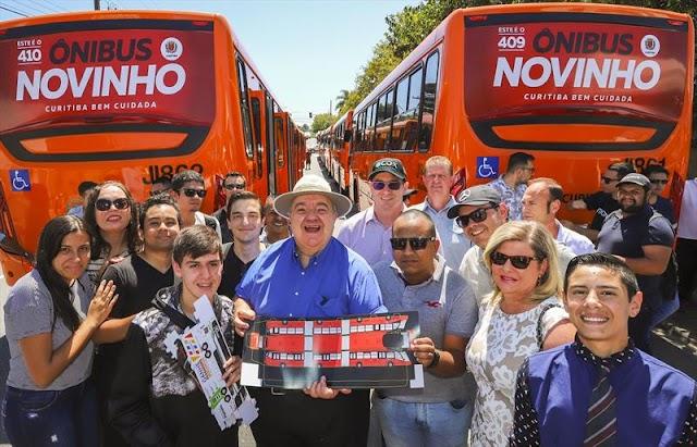 Mais 10 ônibus novos são entregues à população de Curitiba; já são 410 no total desde 2017