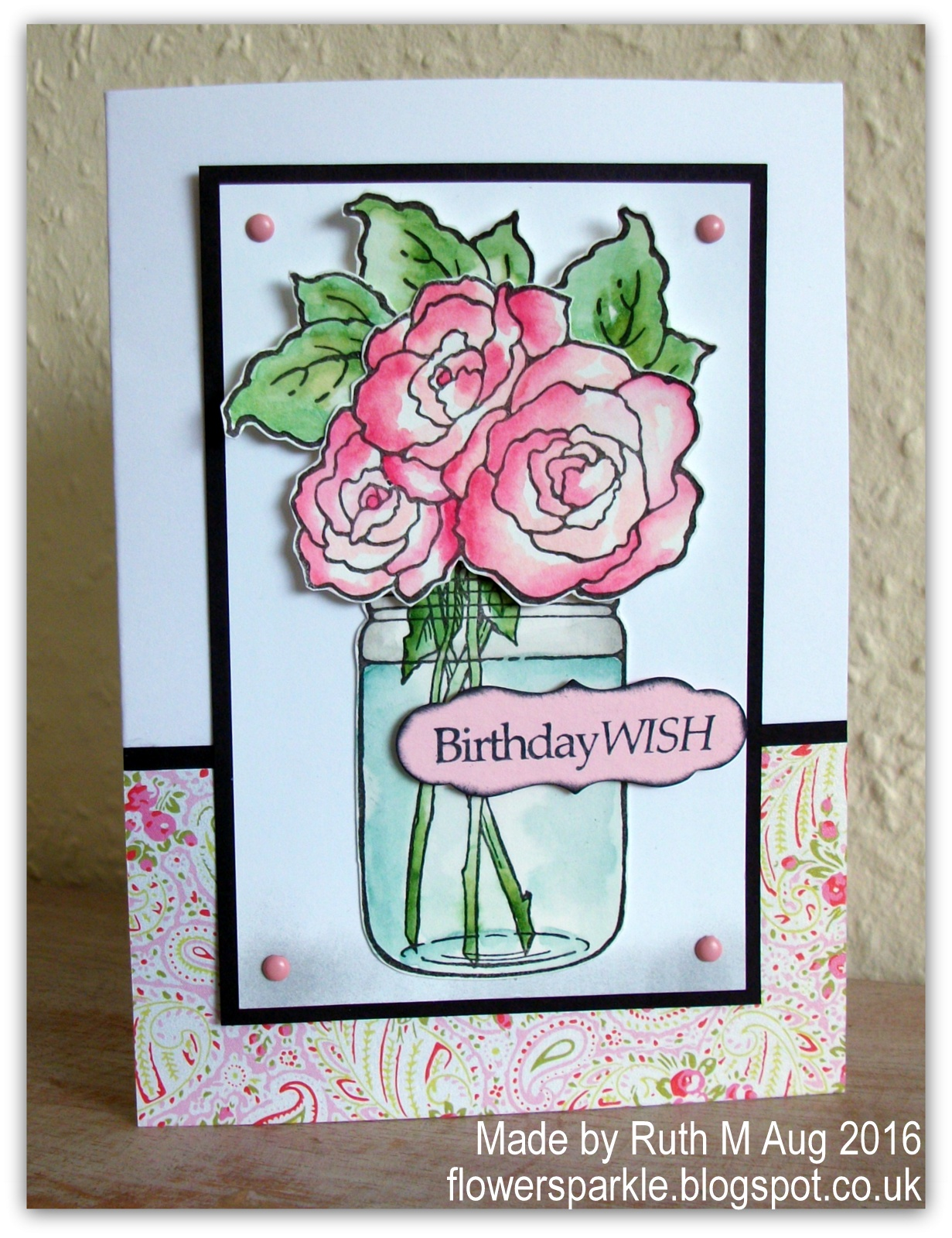 The Jar Image Has Word Hello On It But I Wanted To Cover That Up So Popped Birthday Wish Sentiment Label And Then Also