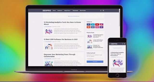 seo pro blogger template
