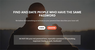 Dating site matches users based on passwords they use