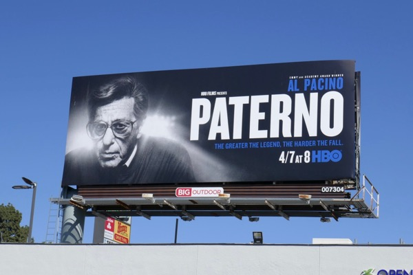 Al Pacino Paterno HBO film billboard