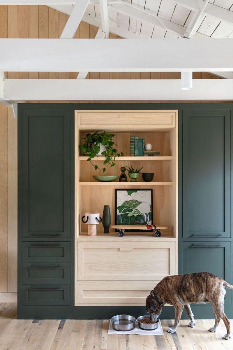 Mueble de almacenaje en casa de campo a medida