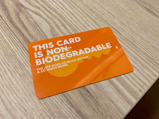 Plastic key card at lyf Funan