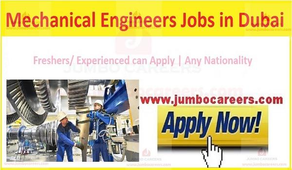 Fresher Mechanical Engineering Jobs in Dubai UAE 2019-2020