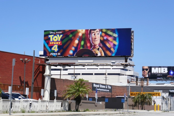 Toy Story 4 movie billboard