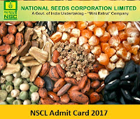 NSCL Admit Card 2017