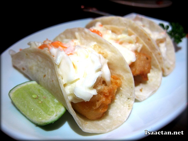 #1 Tacos Ensenada (Beer battered fish tacos) - RM19