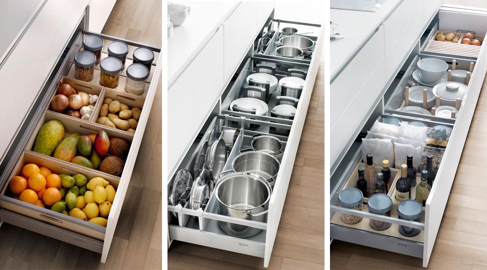 Cocina organizada - Interiores de cajones de cocina ...