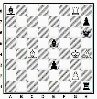 Posición de la partida de ajedrez Bator - Bareev (Saltsjobaden, 1987)