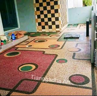 tukang batu sikat lantai carport dan jasa tukang taman tianggadha art