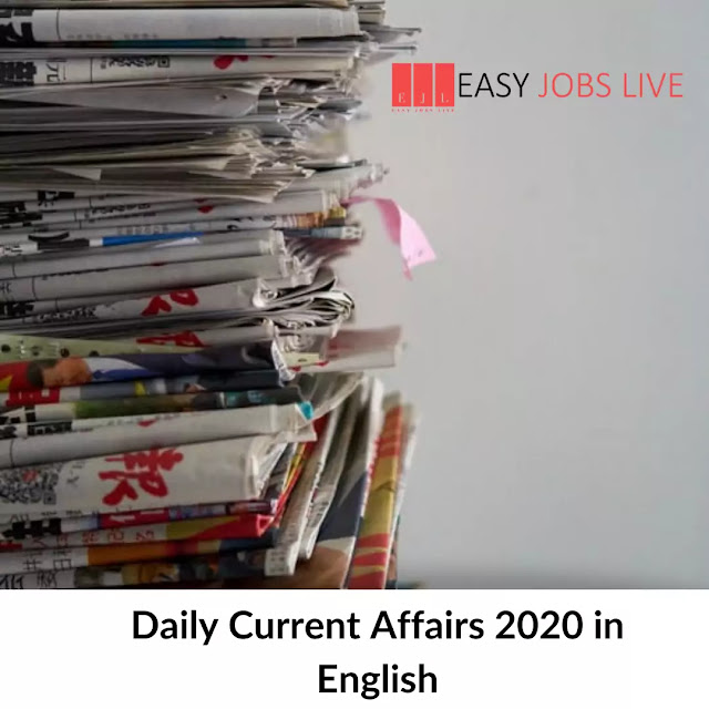 daily current affairs 2020 in english