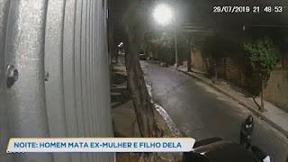 Vídeo mostra homem atirando contra mulher e o filho dela
