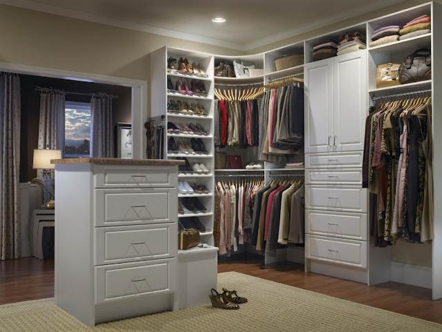 bedroom walk in closet design ideas