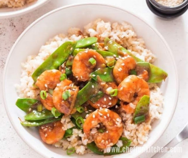 Healthy Shrimp Stir Fry Recipe With Snow Peas
