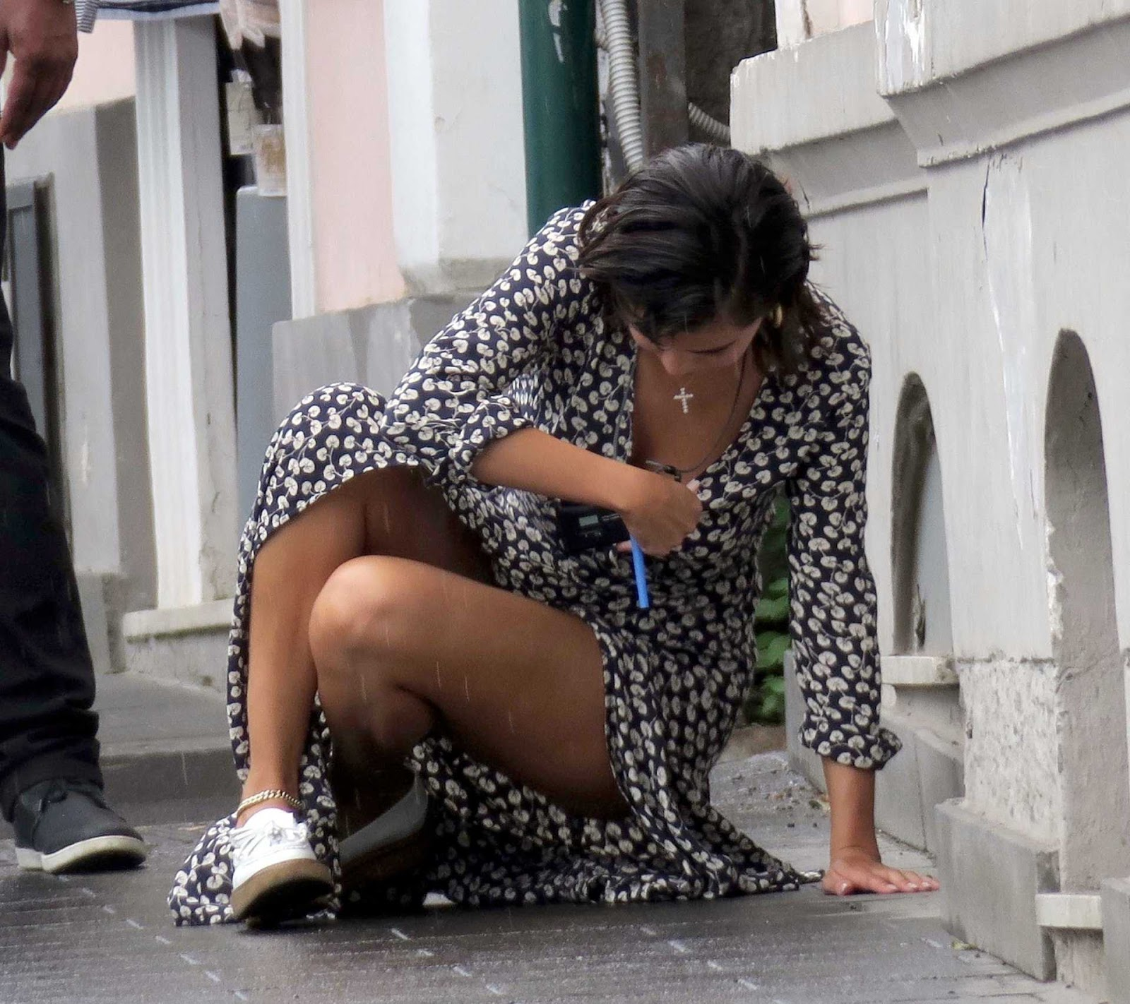 Selena Gomez Upskirt, Out in Capri - imagedesi.com