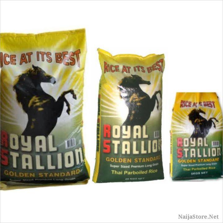 Royal Stallion Rice Grains - Thai Parboiled Naija Rice Packs (5kg, 25kg and 50kg)