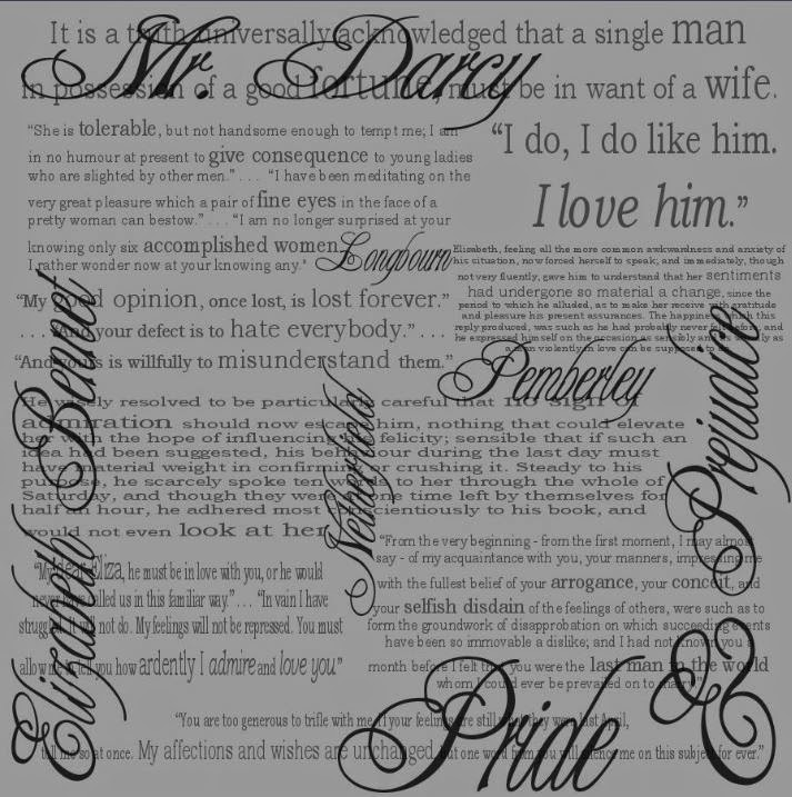Pride & Prejudice fabric by eSheep Designs