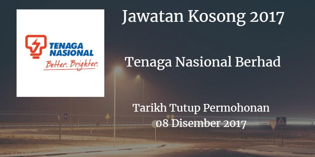 Jawatan Kosong TNB 08 Disember 2017