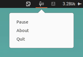 Hushboard mute mic while typing Linux