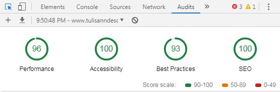 Google Lighthouse Score Kompi Flexible V8 Terbaru