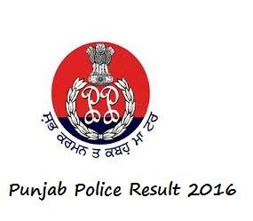 Punjab Police Merit List 2016