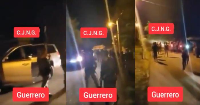 """Convoy de trocas cargadas de sicarios de """"Grupo Élite"""" del CJNG ingresan a Guerrero para toparse y pelearle la plaza a LNFM"""