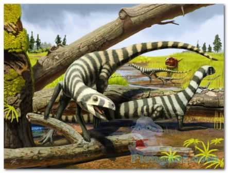 Ilustrasi gambar habitat asilisaurus kongwe di alam