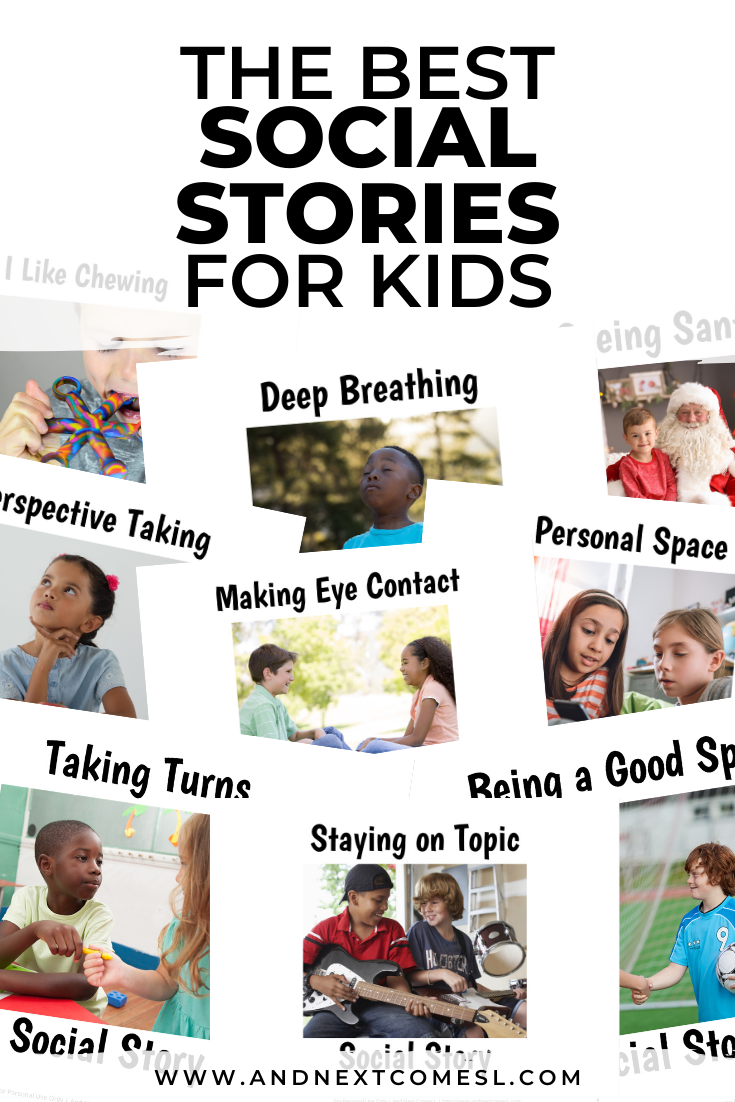 Printable social stories for kids with autism