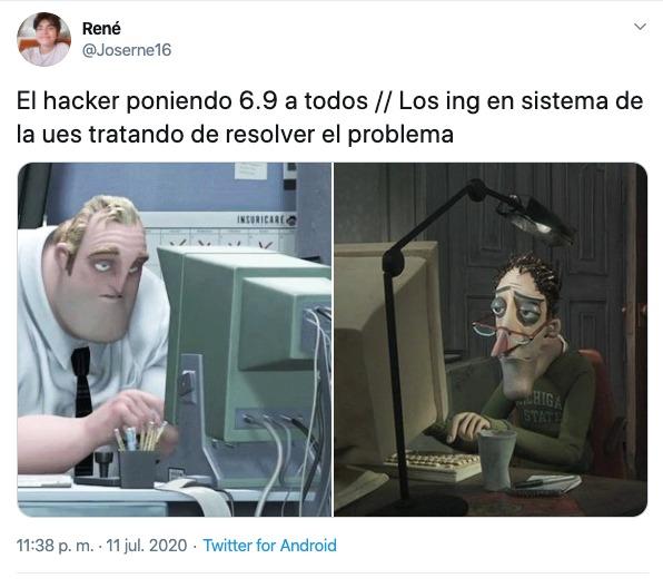 hackean universidad de el salvador meme