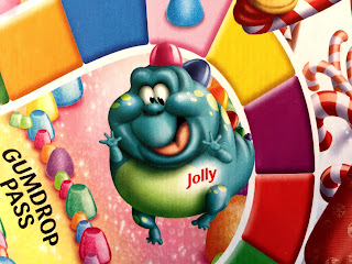 Jolly the Gumdrop Dragon, one of the cute characters from Candy Land.
