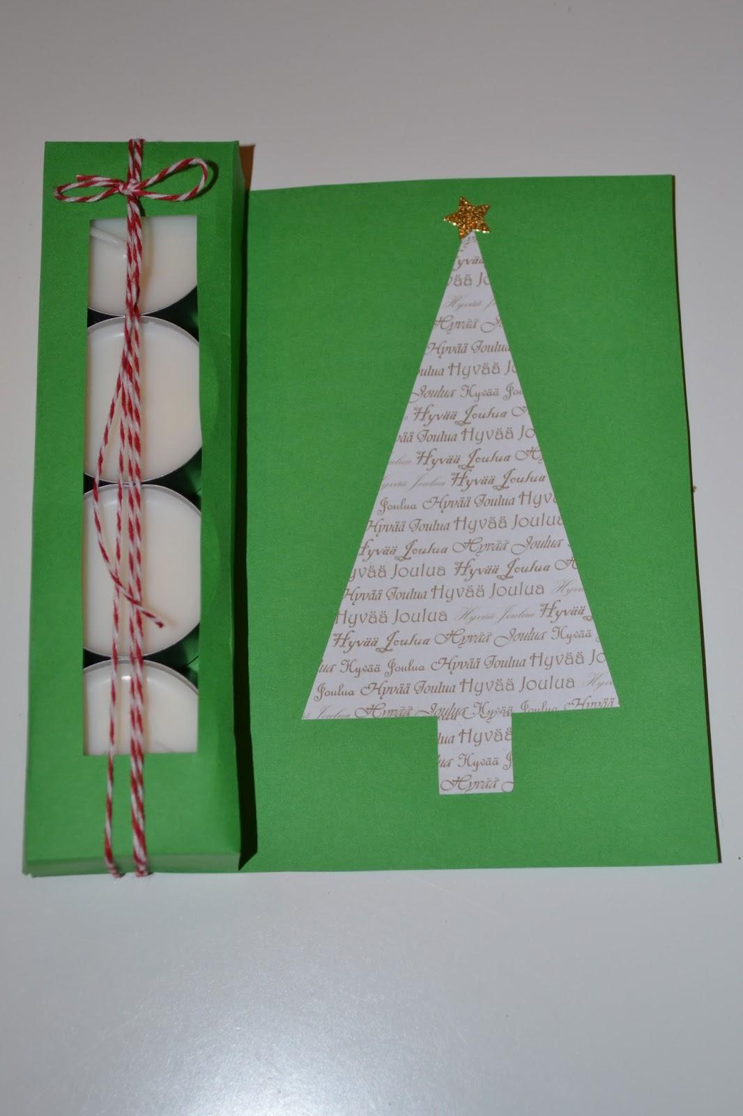 Ihan itse tehty: Joulukortti tuikuilla