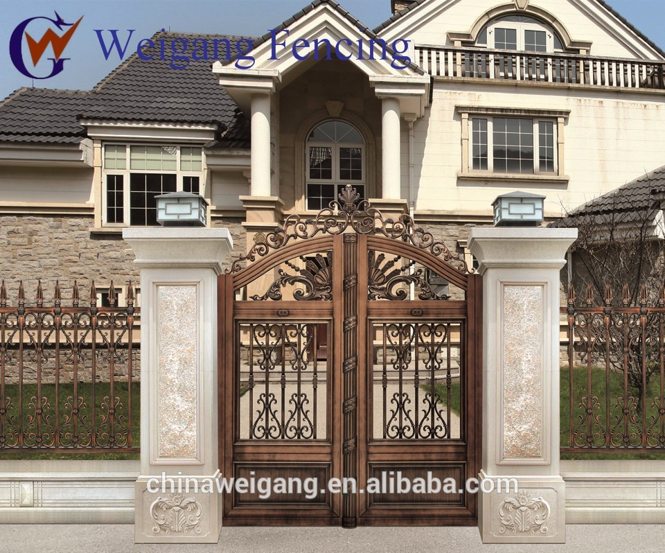 Different kinds of home gates designs bahay ofw for Home gate design