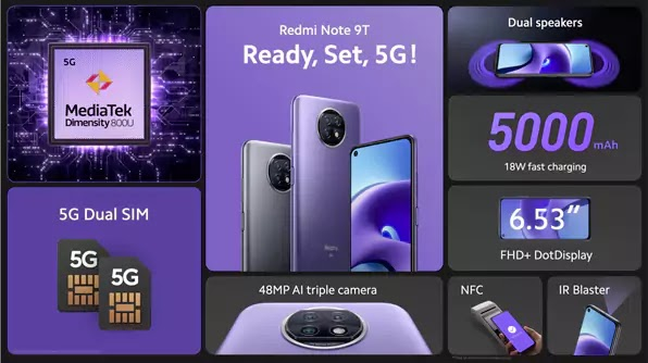 مميزات Redmi Note 9T