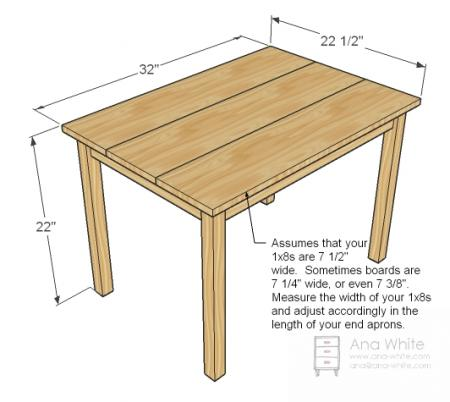 simple child desk plans