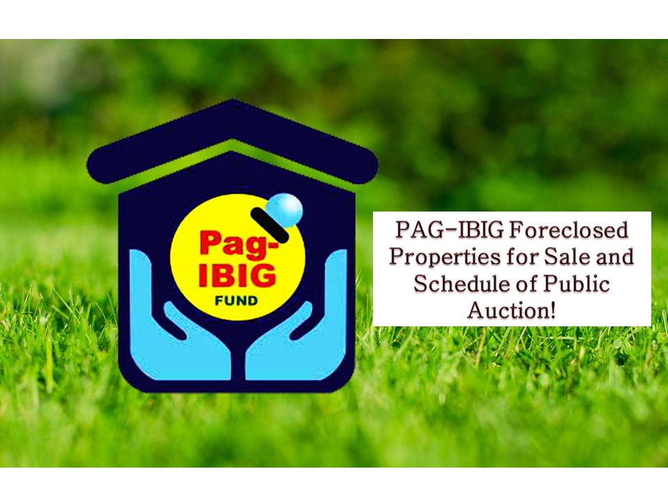 The following is the list of Pag-IBIG Fund acquired properties or foreclosed properties for sale through public auctions. So if you are looking for real properties to buy, foreclosed properties are a good option especially if you are looking for a cheaper property to acquire you may check the following.   Jbsolis.com is not affiliated nor connected with Pag-IBIG Fund. This post is for general purposes only. This list is not intended as a recommendation of any particular company or product.   To find the right opportunity for you, regardless of cost, it's important that you do your due diligence. Please transact only with the Pag-IBIG's authorized personnel. Jbsolis is not liable for any transaction or contract entered into that is related to this listing.