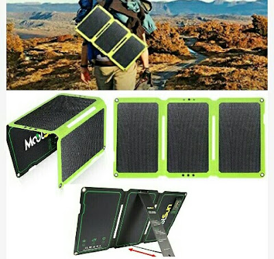 Moolsun Solar-Powered Charger - Foldable 24Watts Mobile Powerbank