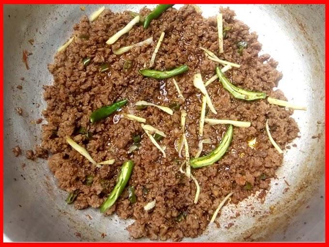 Shinwari Mutton Keema Fry Recipe