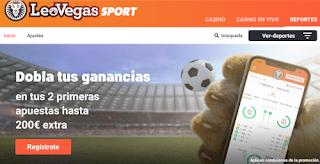 LeoVegas Apuestas deportivas bono bienvenida 200€